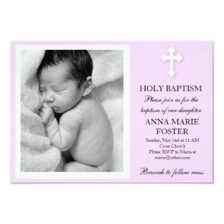 Baptismo da filha convite 8.89 x 12.7cm
