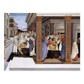 Baptismo de Sandro Botticelli- da rua Zenobius Cartoes Postais