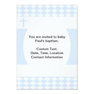 Baptismo do bebé convite 12.7 x 17.78cm