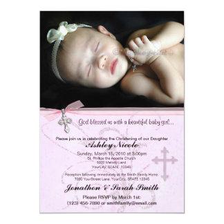 Baptismo do bebé ou convite do batismo convite 12.7 x 17.78cm