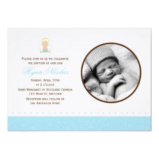 Baptismo doce da foto do bebé convite 12.7 x 17.78cm