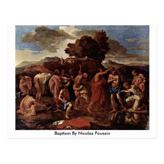 Baptismo por Nicolas Poussin Cartão Postal