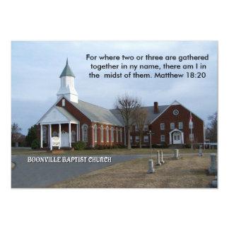 BAPTISTA CHURCH-INVITATION DE BOONVILLE CONVITE 12.7 X 17.78CM