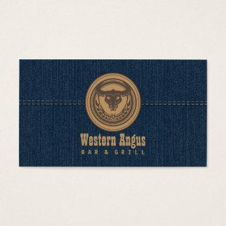Bar de Angus & cartão de negócio da restauração