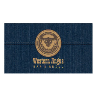 Bar de Angus & cartão de negócio da restauração oc Cartão De Visita