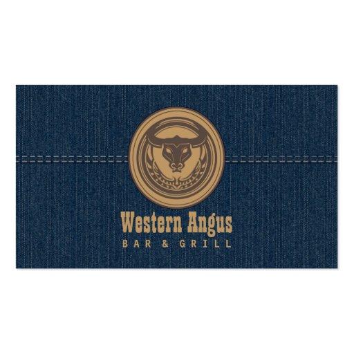 Bar de Angus & cartão de negócio da restauração oc Cartões De Visita