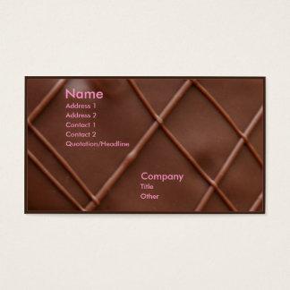 Bar de chocolate cartão de visitas