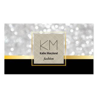 Bar de ouro dourado branco do preto da beira de cartão de visita