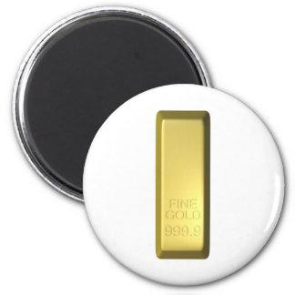 Bar de ouro ímã redondo 5.08cm