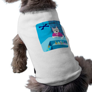 Bar de Terrier branco de montanhas ocidentais Mart Camisa Sem Mangas Para Cachorro
