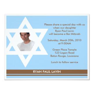 Bar Mitzvah Convite 10.79 X 13.97cm