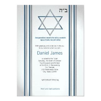 Bar Mitzvah da estrela de David Convite 13.97 X 19.05cm