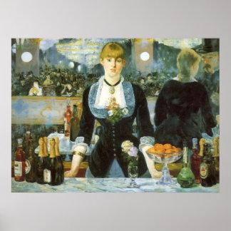 Bar no Folies-Bergere, Manet, belas artes do Impressão