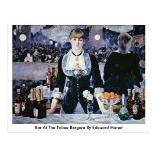 Bar no Folies-Bergere por Edouard Manet Cartão Postal