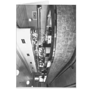 Bar público no hotel da ponte cartão comemorativo