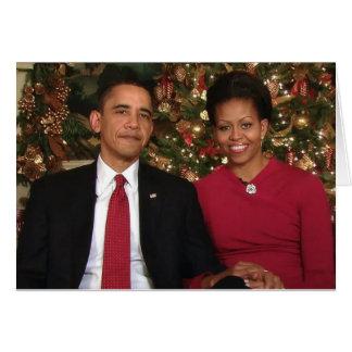 Barack & cartão de Michelle 2009WA-Greeting