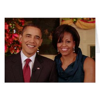 Barack & cartão de Michelle 2010WA-Greeting