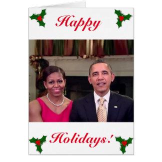Barack & cartão de Michelle 2011WA-Greeting
