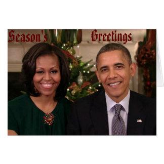 Barack & cartão de Michelle 2012WA-Greeting