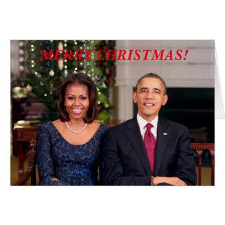 Barack & cartão de Michelle 2013WA-Greeting
