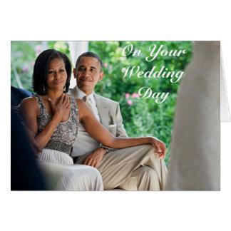 Barack e casamento de Michelle - cartão