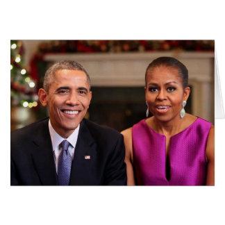 Barack e Michelle 2014 WA - cartão