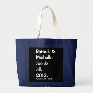 Barack Michelle Joe e o bolsa comemorativo de Jill