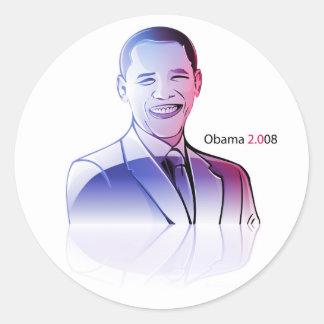 Barack Obama 2008 etiquetas Adesivo Em Formato Redondo