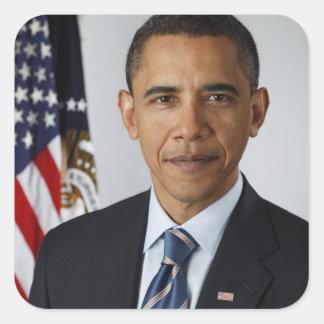 Barack Obama Adesivo Em Forma Quadrada