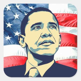 Barack Obama Adesivo Quadrado