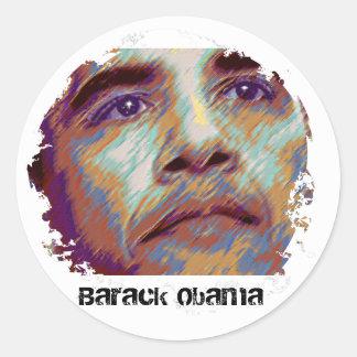 Barack Obama Adesivo Em Formato Redondo