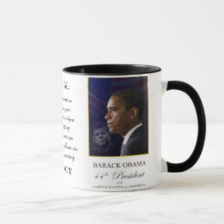 Barack Obama com Jack Kennedy - caneca da