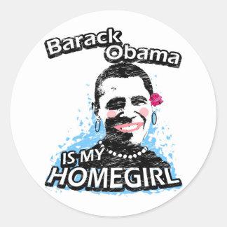 Barack Obama é meu homegirl Adesivo