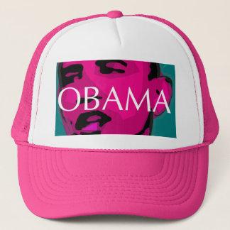 Barack Obama, grande boné cor-de-rosa