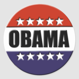 Barack Obama para o presidente Etiqueta Adesivo Redondo