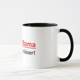 Barack Obama, todo sauda o Seizer!  Caneca de café