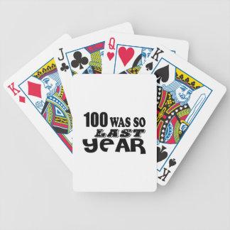 Baralho 100 eram assim tão no ano passado design do