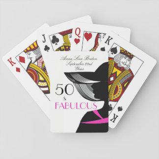 Baralho 50 e aniversário elegante do art deco fabuloso