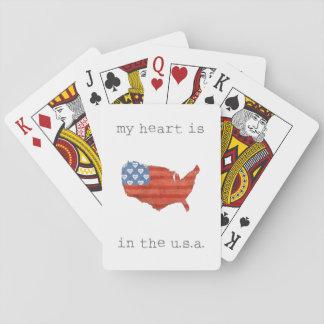 Baralho A americana | meu coração está no mapa dos EUA