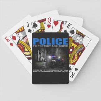 Baralho A polícia protege e serve