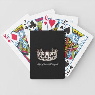 Baralho A senhorita EUA denomina cartões de jogo feitos