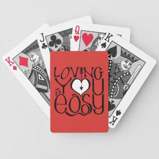 Baralho Amando o cartões de jogo brancos vermelhos do