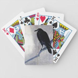 Baralho Antiguidade preta do pássaro do corvo