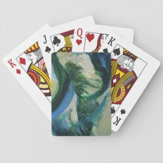 Baralho Arte do delta que pinta cartões de jogo clássicos