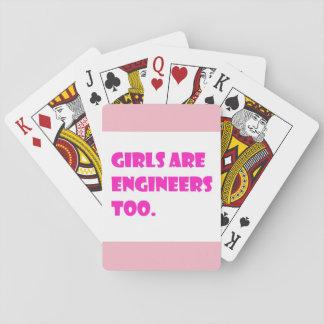 Baralho As meninas são cartões dos engenheiros demasiado