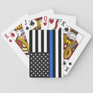 Baralho Bandeira americana fina de Blue Line