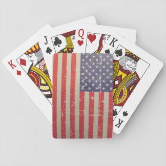 Baralho Bandeira americana resistida, afligida dos EUA