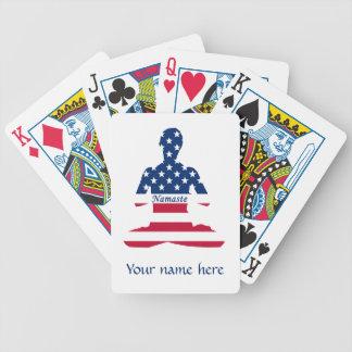 Baralho Bandeira da ioga do americano da meditação dos EUA