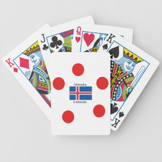Baralho Bandeira de Islândia e design islandês da língua