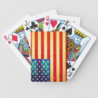 Baralho Bandeira do dinheiro de América